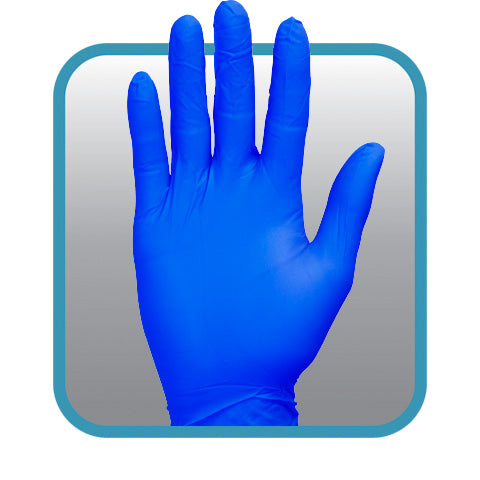 The Safety Zone ® Powder Free Blue 2.0 mil Nitrile Gloves,100/box