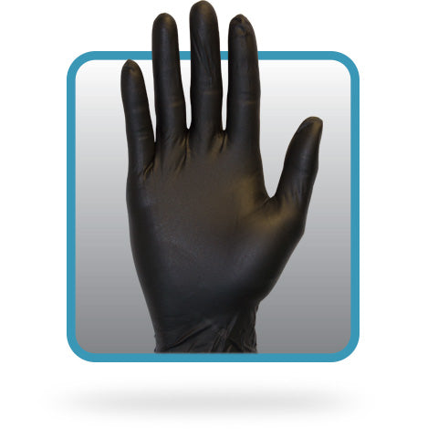 The Safety Zone ® Powder Free Black 6.0 mil Nitrile Gloves, 100/box