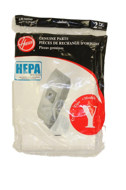 Hoover AH10040 Type Y HEPA Media Bags, 2pk