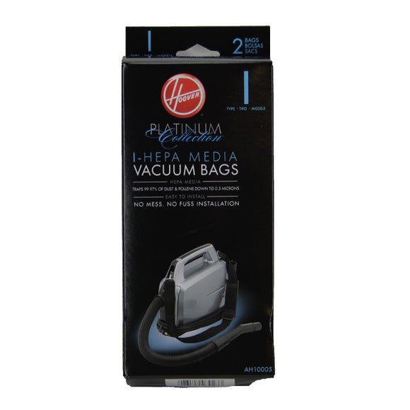 Hoover AH10005 Type I HEPA Media Bags, 2pk