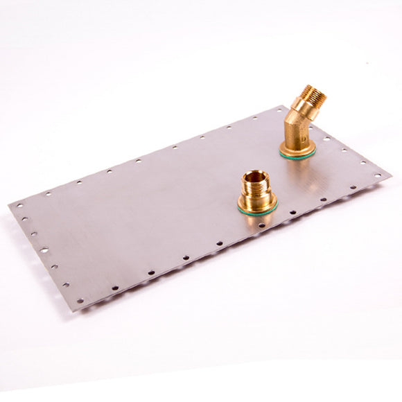 Jiffy 1370 Boiler Tank Lid with 2 Brass Fittings and 2 Beauty Rings