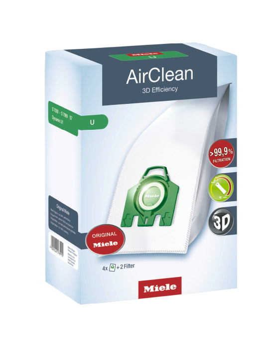 Miele AirClean 3D Efficiency Filter Bags U