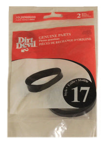 Dirt Devil 3DJ0900000 Style 17 Belt, 2pk