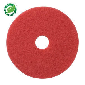 "Facet Red Buffing Pads 13"", 5/cs"