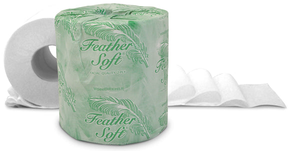 Feather Soft® 2-Ply Standard Bath Tissue, 550 sheets, 80 rolls