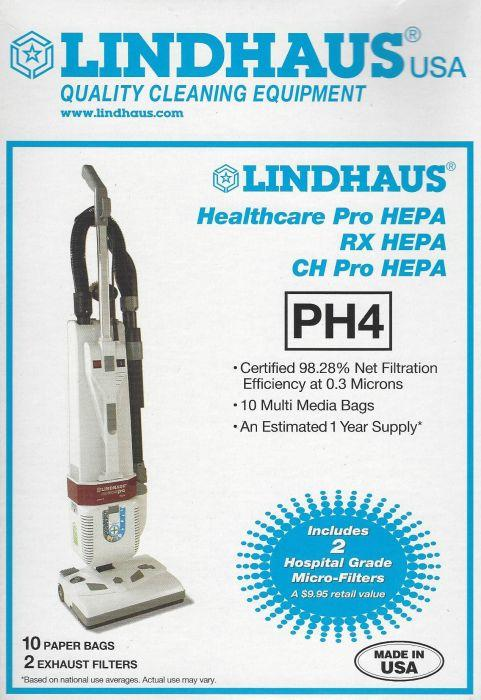 Lindhaus Type PH4 HEPA Media Bags, 10pk