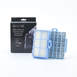 Riccar HEPA Media & Granulated Charcoal Filter Set, Prima Canisters RF19G