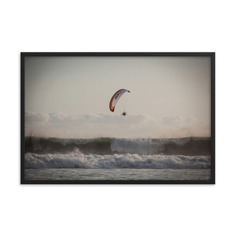 Framed Poster - Who Needs a Surf Board? Paramotor the Americas