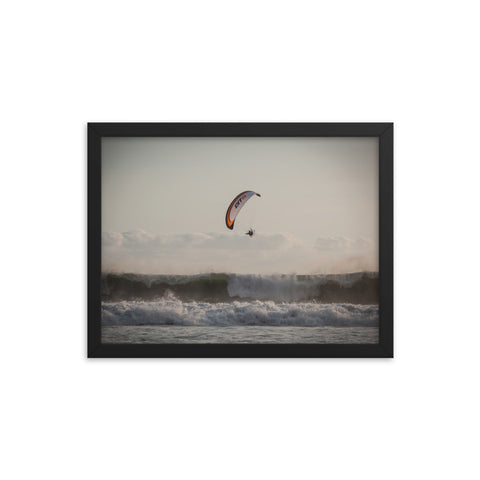 Framed Poster - Who Needs a Surf Board? Paramotor the Americas - [Paramotor the Americas]