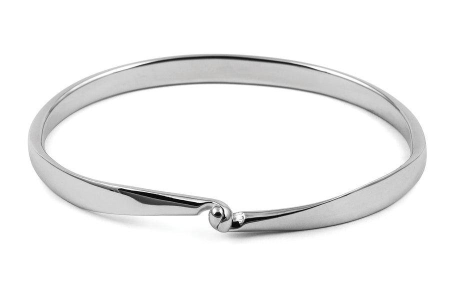 Solid Silver Bangle