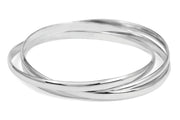 entwined silver bangle