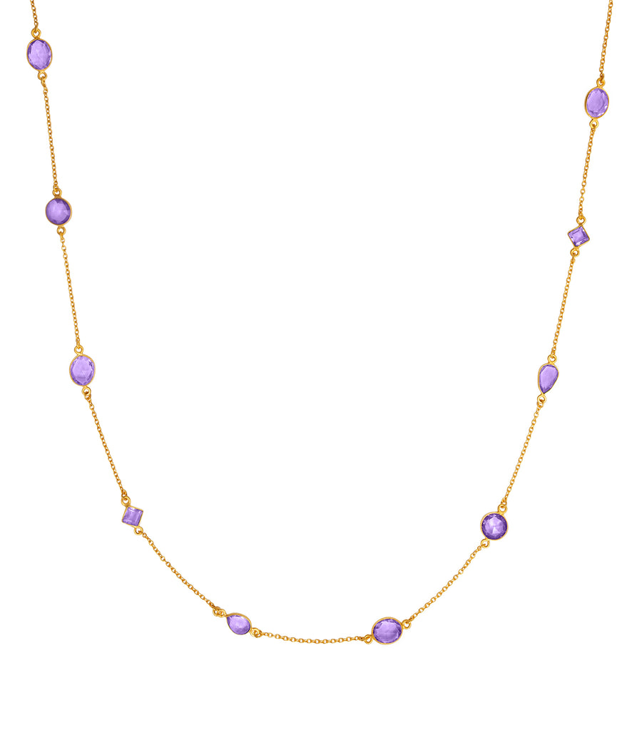 Amethyst stone gold necklace 34