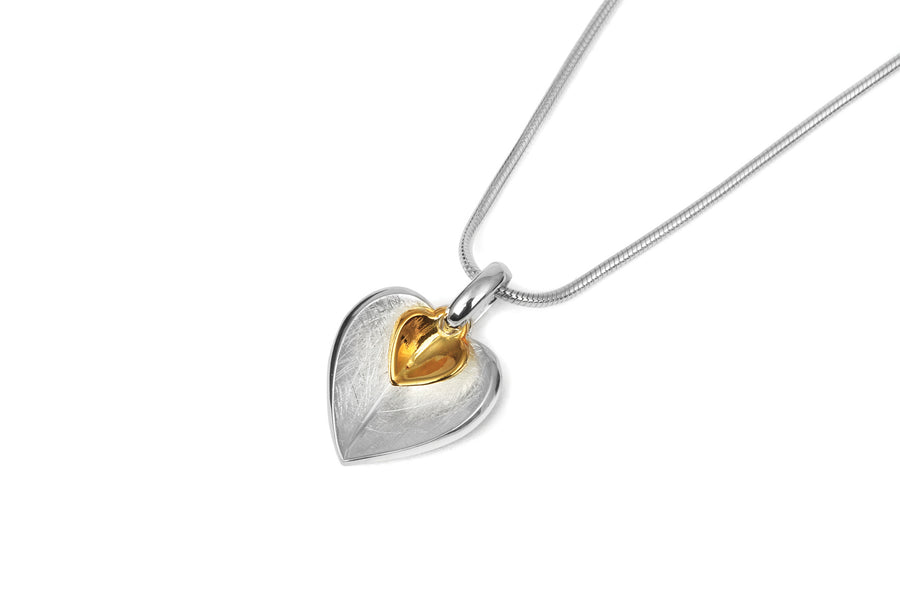 Gold Double Heart Pendant