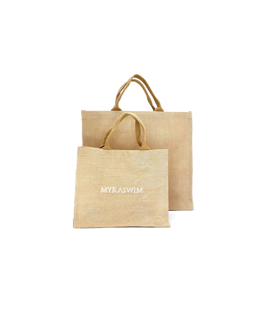 Natural Jute Beach Tote // Small