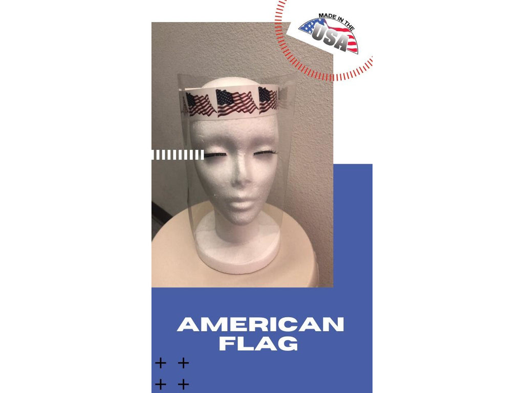 Adjustable Face Shield with Hinged Visor- AMERICAN FLAG