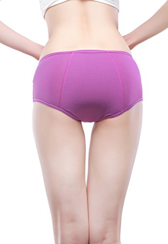 YOYI FASHION Women Mesh Holes Breathable Panties