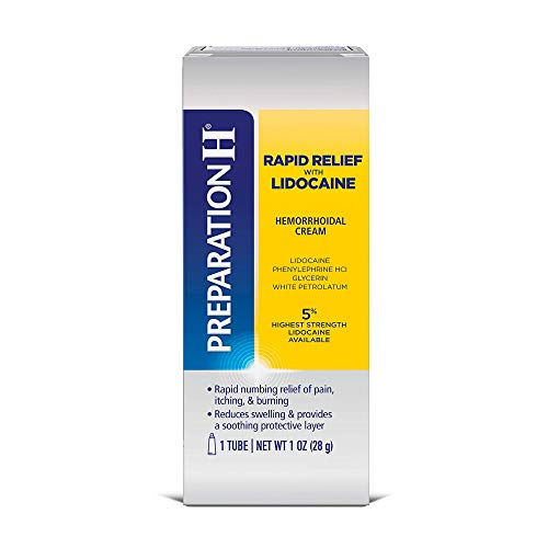 Preparation H Rapid Relief With Lidocaine Cream