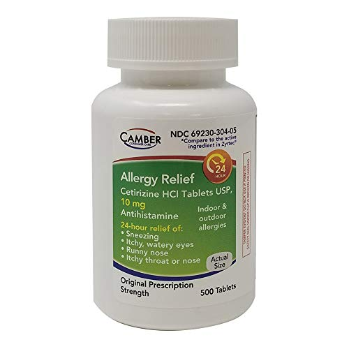 Allergy Relief Cetirizine HCl Tablets