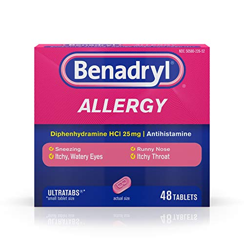 Benadryl Antihistamine Allergy Relief 25 Mg - 48 tablets