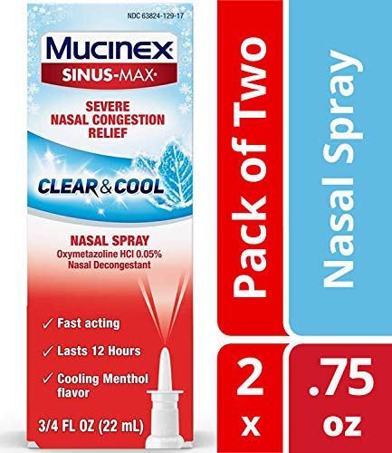 Nasal Congestion Relief Clear & Cool Nasal Spray