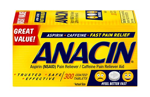 Caffeine Reliever Aid Fast Pain Relief Tablets