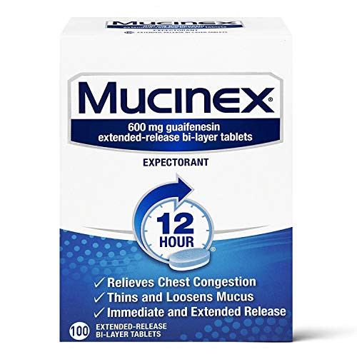 Mucinex Guaifenesin Extended Release Tablets 100 Count