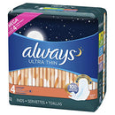 Always Ultra Thin Overnight Pads 52 Count