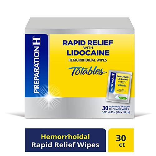 Preparation H Rapid Relief With Lidocaine Flushable Wipes