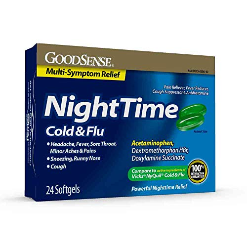 GoodSense Nighttime Cold & Flu Softgels -  16 count