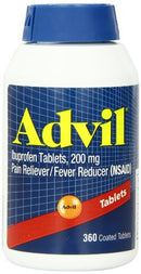 Advil Pain Reliever/Fever Reducer 200 mg Tablets - 360 Count