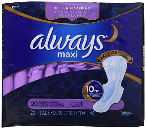 Always Extra Heavy Overnight Maxi Pads