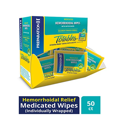 Preparation H Flushable Medicated 50Count Wipes