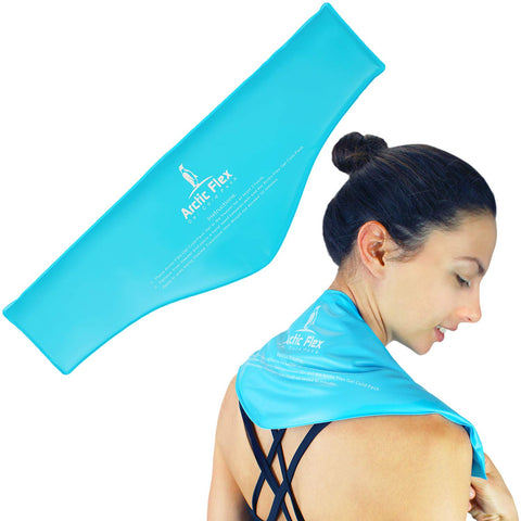 Arctic Flex Neck Ice Pack - Hot or Cold Compress Shoulder Therapy Wrap