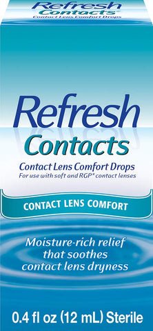 Refresh Contacts Contact Lens Comfort Drops, 0.4 fl oz (12mL) Sterile