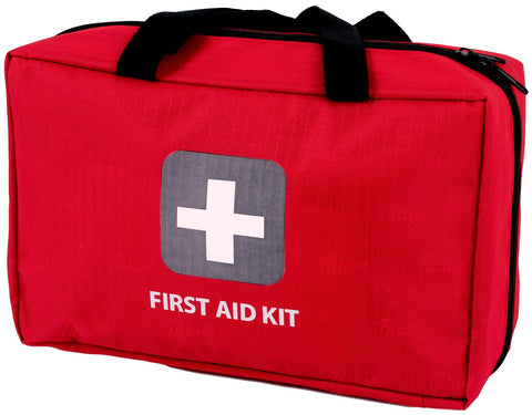 First Aid Kit - 291 Pieces - Bag. Packed with Hospital Grade Medical Supplies for Emergency and Survival situations