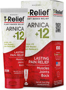 MediNatura T-Relief Natural Pain Relief with Arnica + 12 Plant-Based Pain Relievers - 2 oz Cream