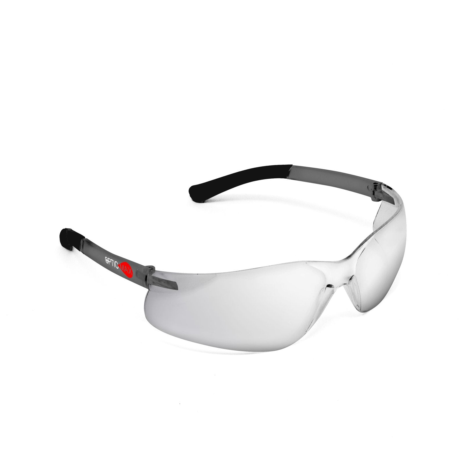 OPTIC MAX Silver Mirror Lens with Grey Frame Black Tips