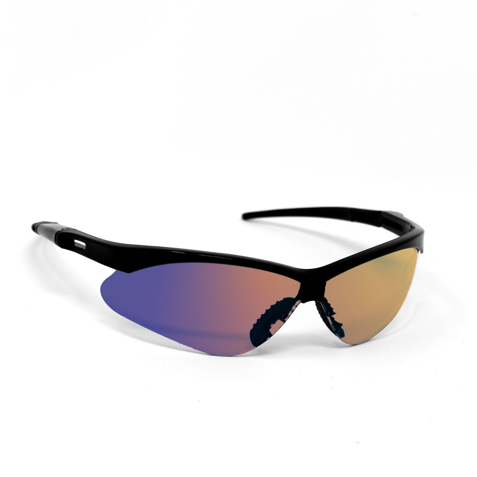 OPTIC MAX Blue Mirror Lens With Black Frame