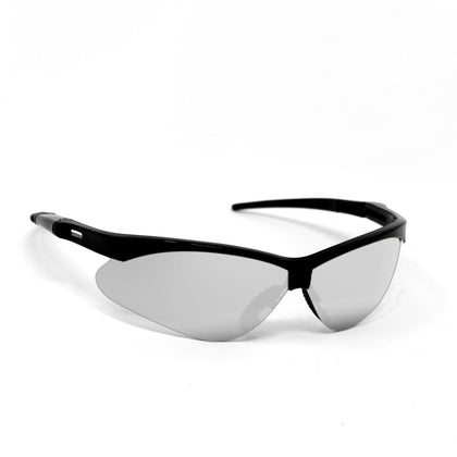 OPTIC MAX Silver Mirror Lens With Black Frame