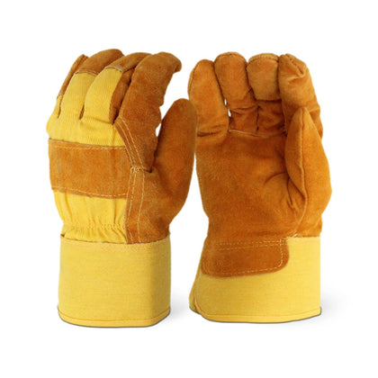 Pile Lined Yellow Winter Gloves