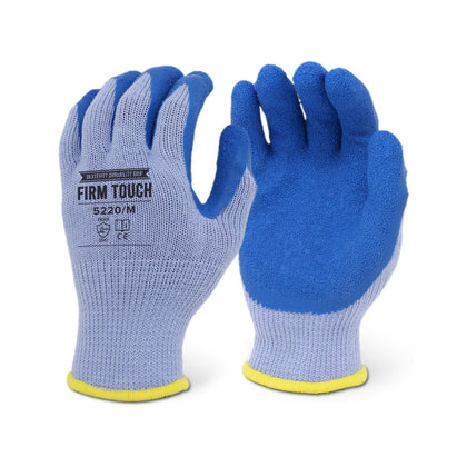 Firm Touch Blue Crinkle Latex Coated Glove