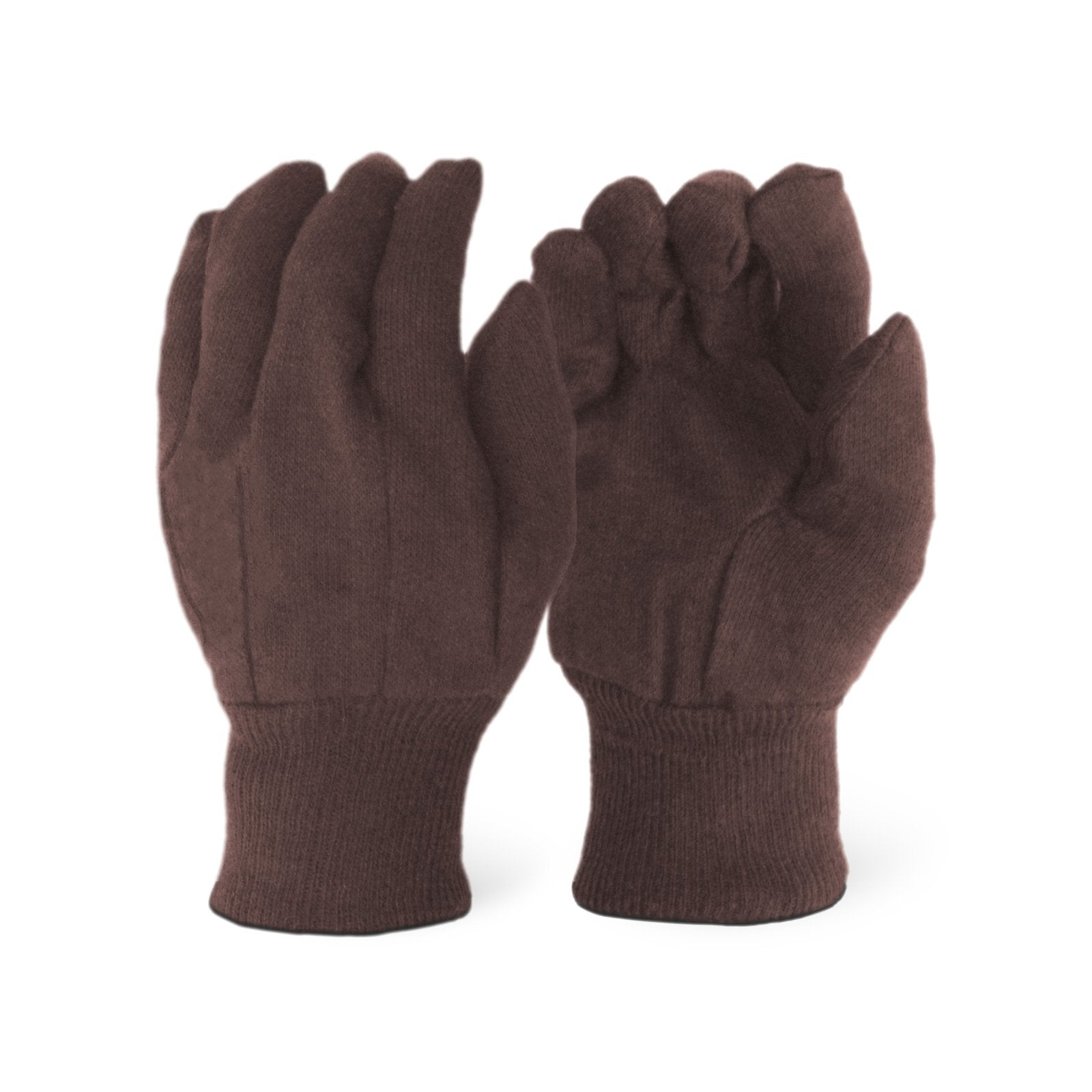 Brown Jersey Gloves (Ladies Size)