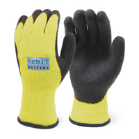 Frost Busters Work Gloves, Heavyweight Knit Shell, Latex Coating