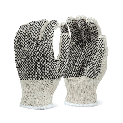 (12 Pair) Heavy-Weight 2-Sided PVC Dots Gloves