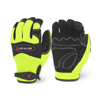 Dex Savior Hi-Viz Yellow Mechanic Glove