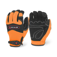 Dex Savior Hi-Viz Orange Mechanic Glove