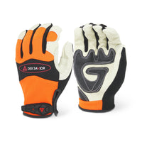 Dex Savior Leather Hi-Viz Orange Glove