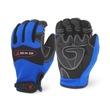 Dex Savior Reinforced Blue Mechanic Glove