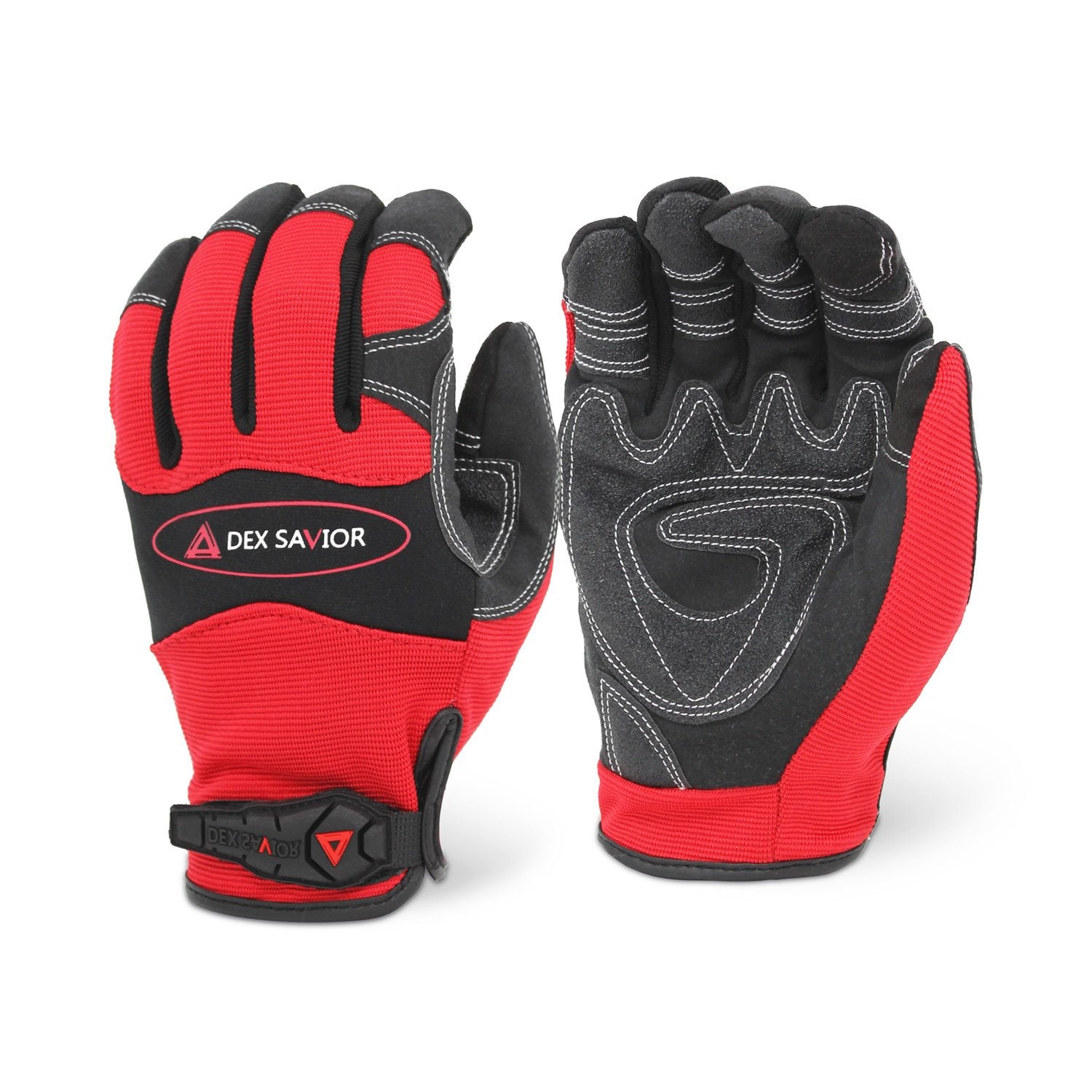 Dex Savior Reinforced Red Mechanic Glove