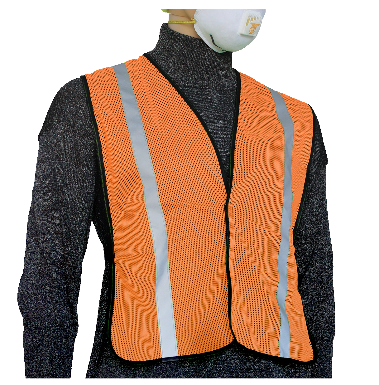 "Non Rated Garments - Safety Vest (1"" Silver Stripes)"